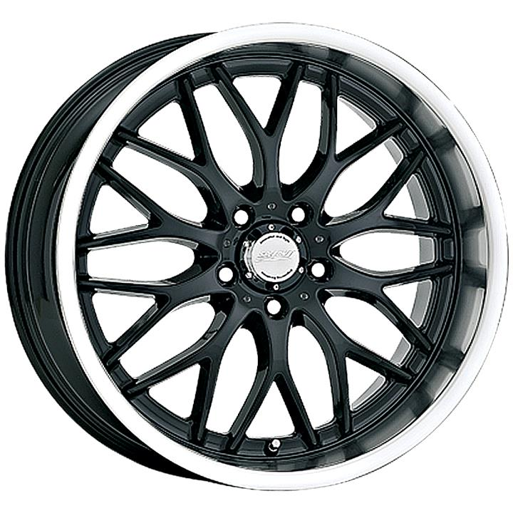 Image of Speedy Wheels CHEETAH GLOSS BLACK/MACHINE LIP Wheels