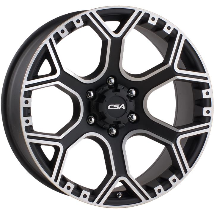 Image of CSA GRANITE LARGE CAP GLOSS BLACK M-FACE Wheels