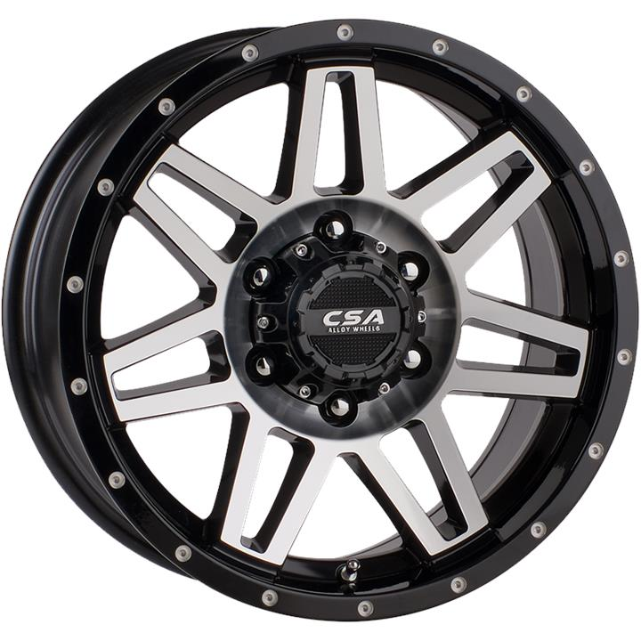 Image of CSA RENEGADE LARGE CAP BLACK M-FACE Wheels