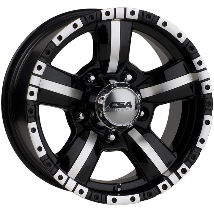 Image of CSA MONSTER LARGE CAP GLOSS BLACK MACHINE FACE Wheels