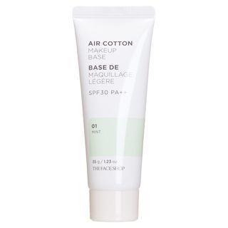 THE FACE SHOP - Air Cotton Makeup Base SPF30 PA++ (2 Colors) #01 Mint
