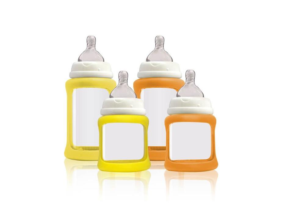 Image of Glass Baby Bottles Starter Kit - Yellow Orange