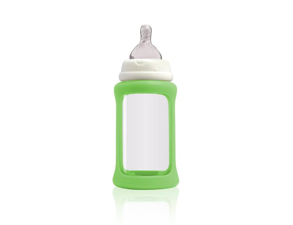 Image of Colour Change Glass Bottles Wide Neck 240ml Single Pack - Green