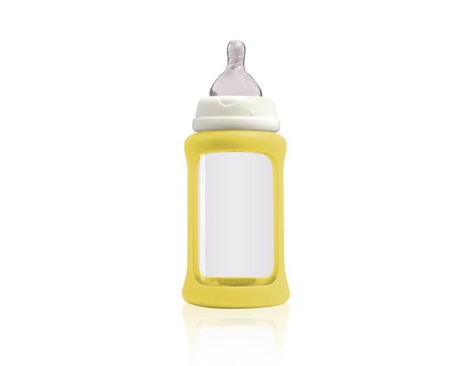 Image of Colour Change Glass Bottles Wide Neck 240ml Single Pack - Yellow