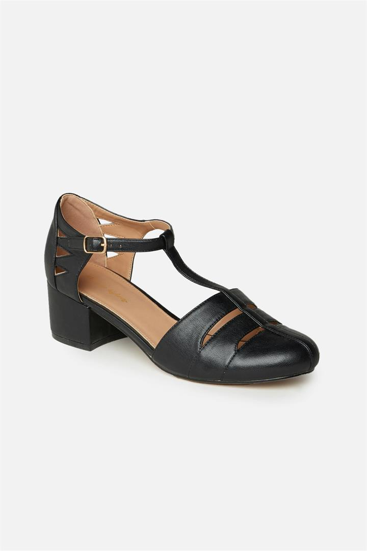Women's 1920s Shoe Styles and History Pheobe Heel - boot Black Pink Accessories SHOP Shoes  Socks accessories Princess Highway $99.00 AT vintagedancer.com