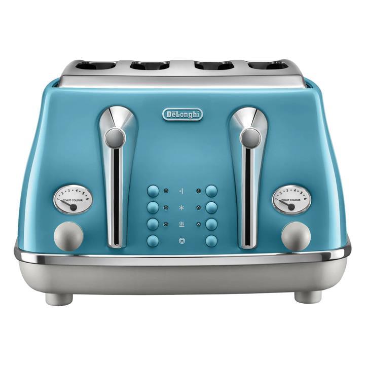 Image of Delonghi Icona Capitals 4 Slice ToasterLisbon Azure