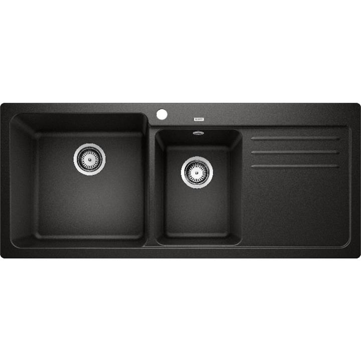 Image of Blanco Double Bowl Sink with DrainerBlack