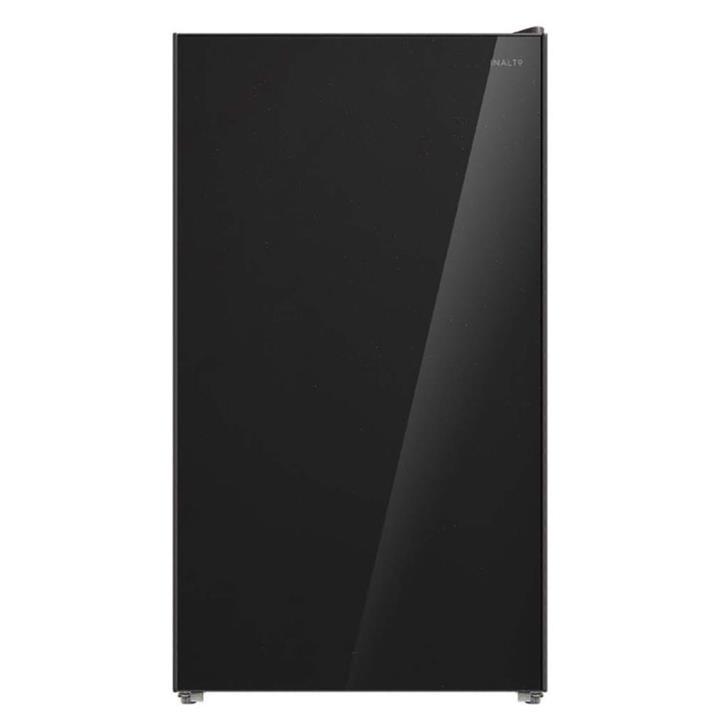 Image of Inalto 95L Black Glass Bar Refrigerator