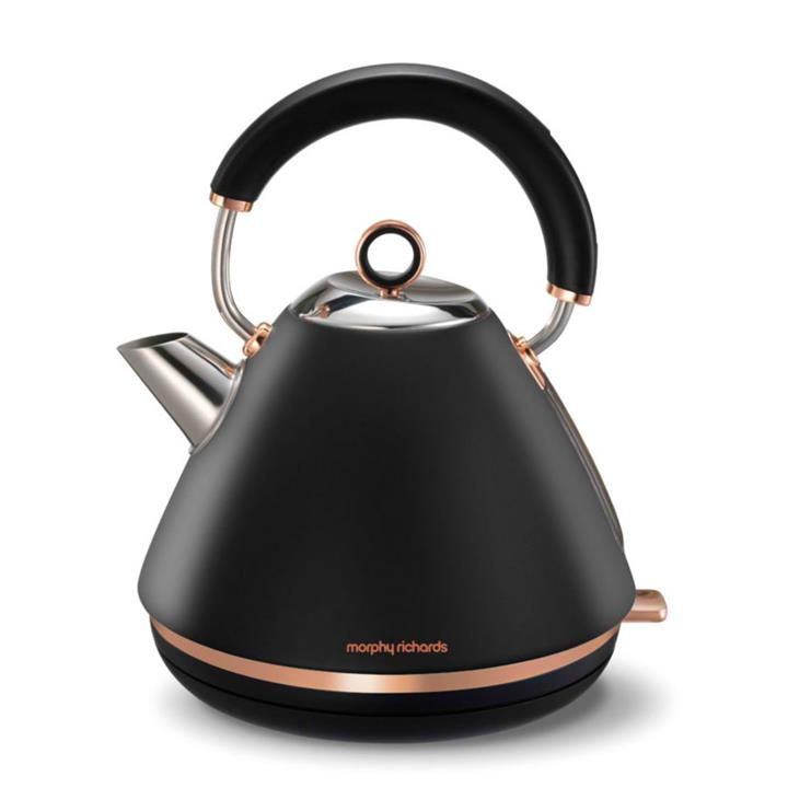 Image of Morphy Richards Black Accents Traditional Pyramid Kettle