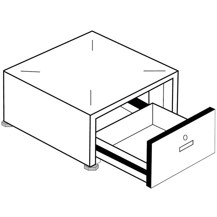 Image of Unilux Laundry Pedestal with Lock
