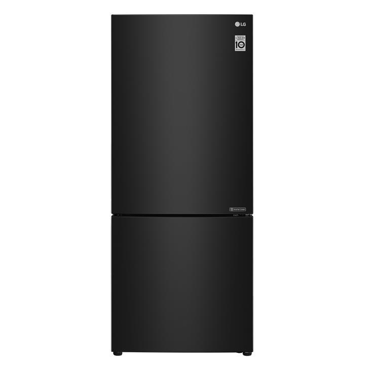 Image of LG 420L Bottom Mount Fridge Black Steel