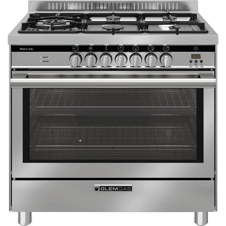Image of Glem Gas 90cm Stainless Steel Dual Fuel Cooker