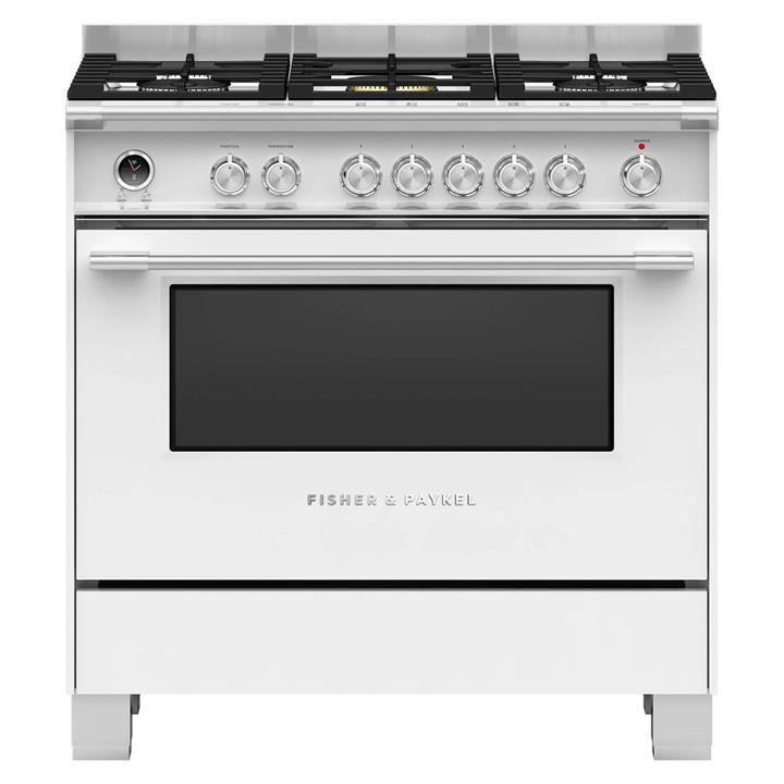 Image of Fisher & Paykel 90cm Freestanding Dual Fuel CookerWhite