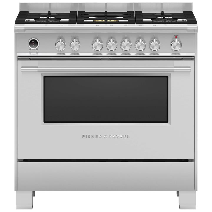 Image of Fisher & Paykel 90cm Freestanding Dual Fuel CookerStainless Steel