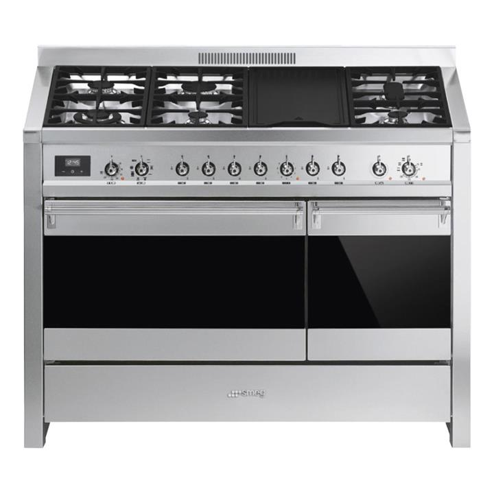 Image of Smeg Classic Freestanding Cooker Stainless Steel 120cm