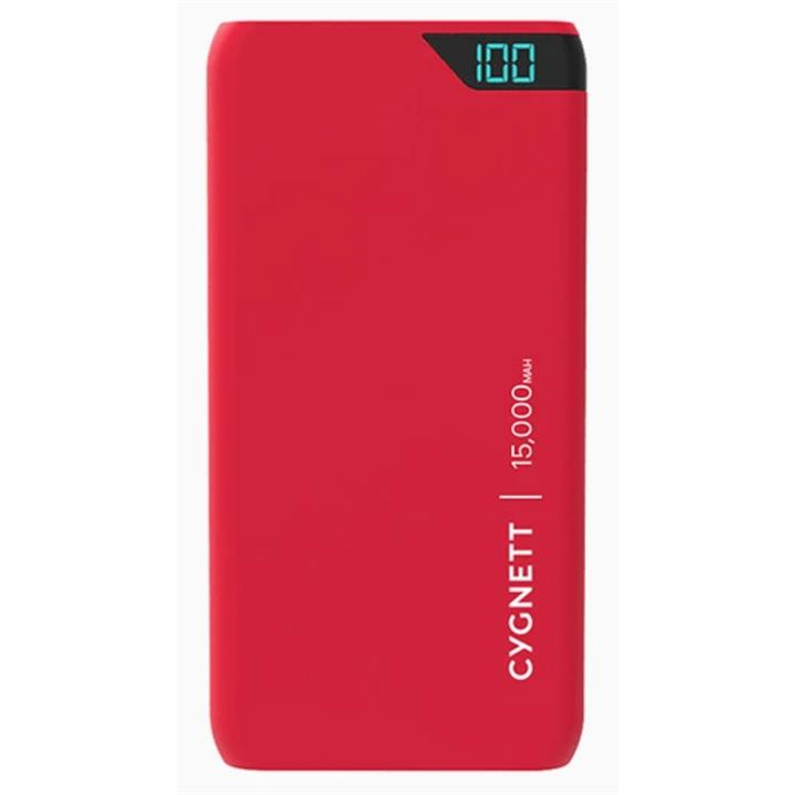 Image of Cygnett 15,000mAh Portable Power Bank in Red