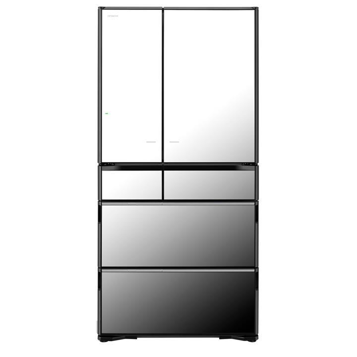 Image of Hitachi 735L Mirror Glass French Door Fridge