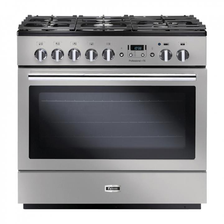 Image of Falcon Professional+ FX 90cm Dual Fuel Upright CookerStainless Steel/Chrome