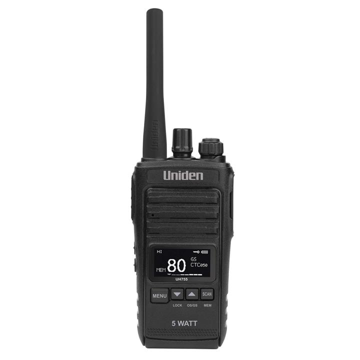 Image of Uniden 5 Watt UHF CB Splashproof Handheld Radio