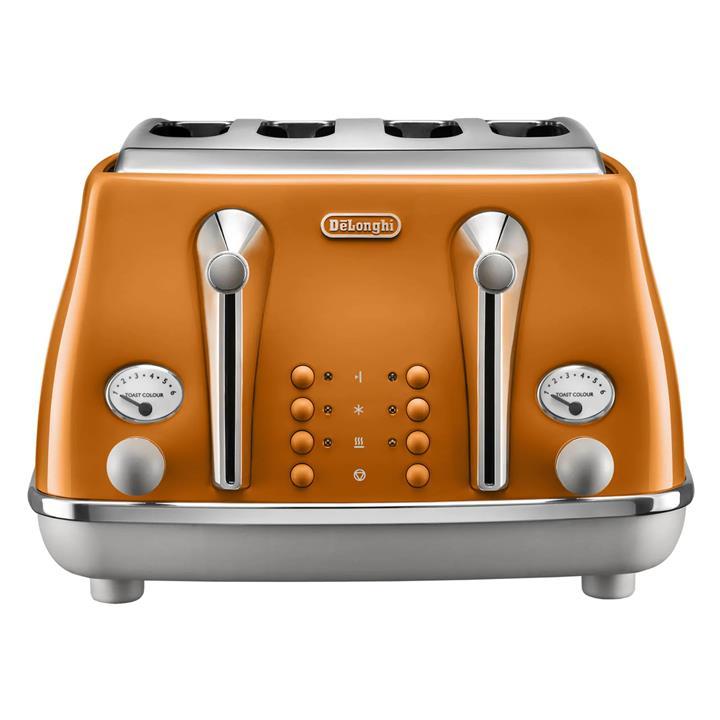 Image of Delonghi Icona Capitals 4 Slice ToasterRome Orange