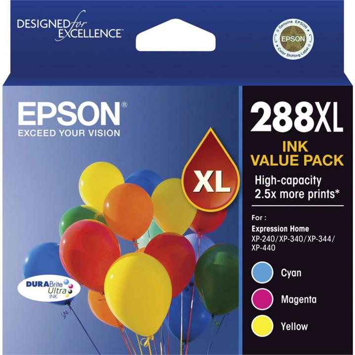 Image of Epson 288XL 3 Colour Value Pack