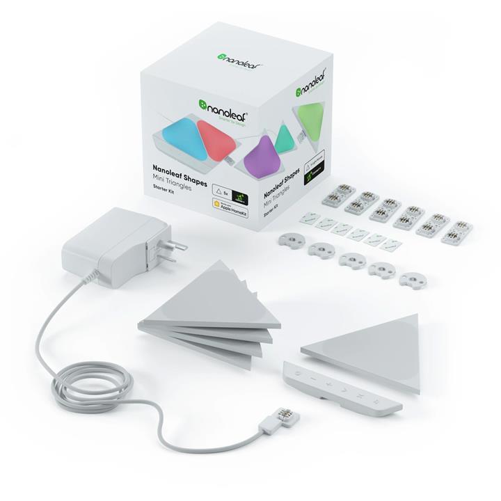 Image of Nanoleaf Shapes Mini Triangles Starter Kit5 Pack