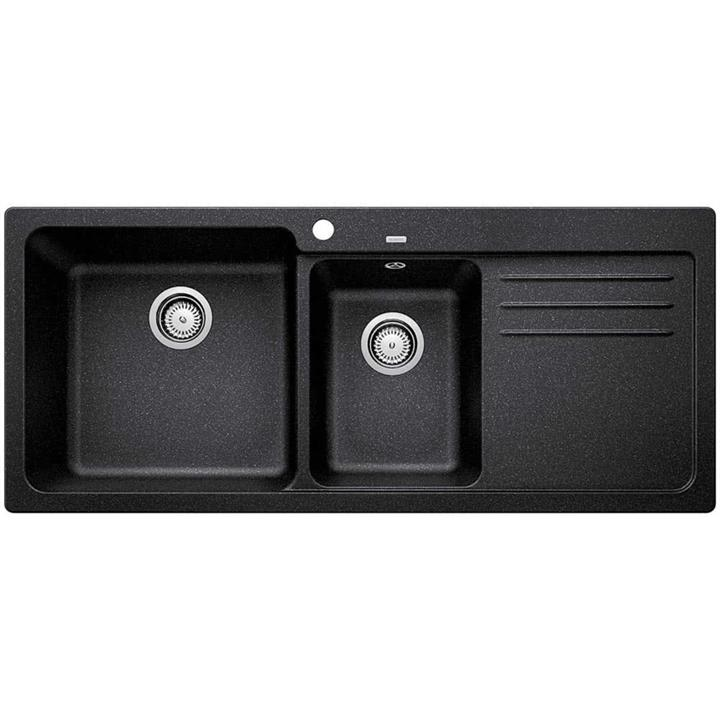 Image of Blanco Double Bowl Sink with DrainerAnthracite