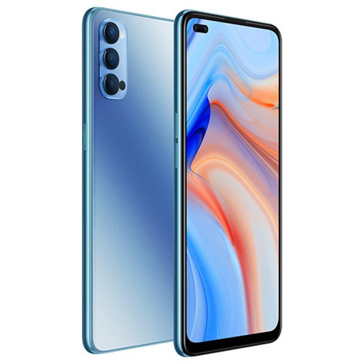 "Image of Oppo Reno4 5G Smartphone6.4"" AMOLED128GBGalactic Blue"