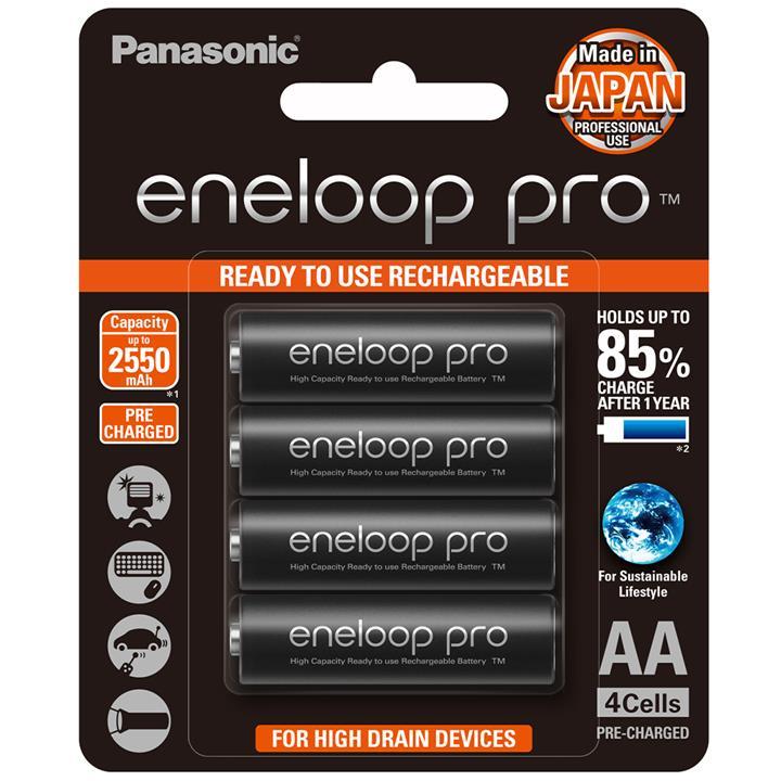 Image of Panasonic AA Eneloop Pro Rechargeable Batteries