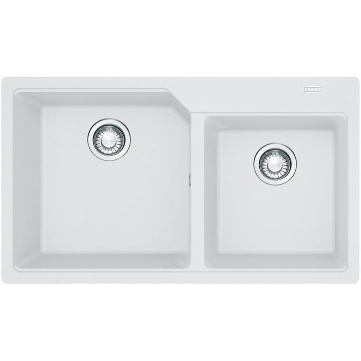 Image of Franke Urban Fragranite 1 and 3/4 Bowl SinkPolar White
