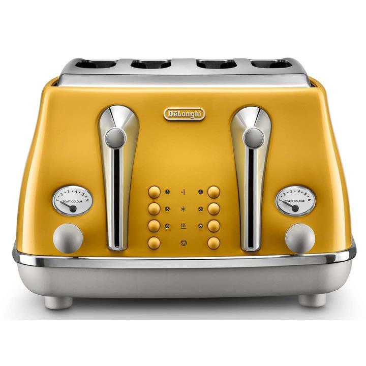 Image of Delonghi Icona Capitals 4 Slice ToasterNew York Yellow
