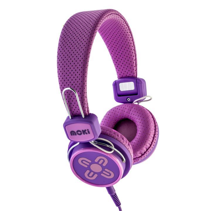 Image of Moki Kid Safe Volume Limited Pink & Purple Headphone