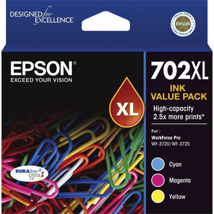 Image of Epson C13702XL DURABrite Ultra Ink CartridgeTri-Colour Pack
