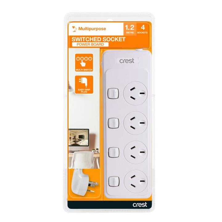 Image of Crest 4 Socket 4 Switch Power Board