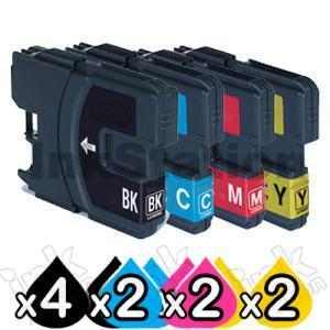10 Pack Brother LC-67 Compatible Ink Combo [4BK,2C,2M,2Y]