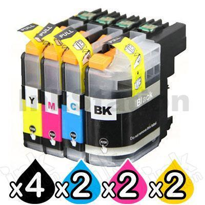 10 Pack Brother LC-233 Compatible Ink Cartridges [4BK,2C,2M,2Y]