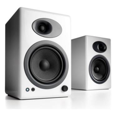 Image of Audioengine 5+ Powered Bookshelf Speakers - Hi Gloss White