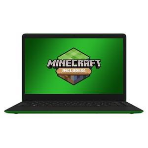 Image of Leader Companion 402 - Minecraft Edition - 14' HD, Intel J4105, 4Gb ram, 64GB storage, Windows 10 S, Green chassis & WASD keys, Office 365 personal