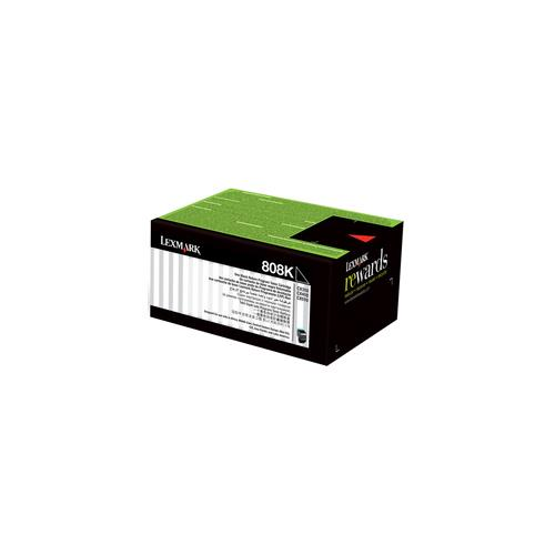 Genuine Lexmark 808K Black Toner