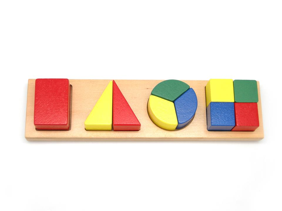 Image of Wooden Shape & Fraction Puzzle