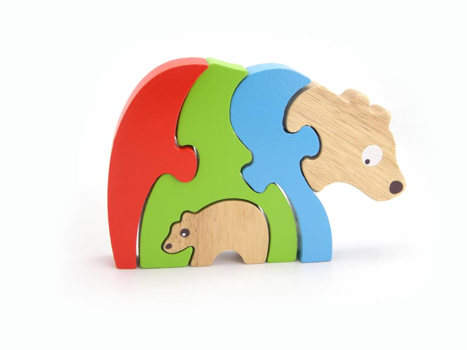 Image of Stacking Jigsaw-Bear & Baby