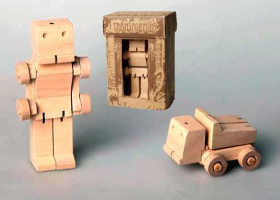 Image of Sm Wooden Transformer - Truck
