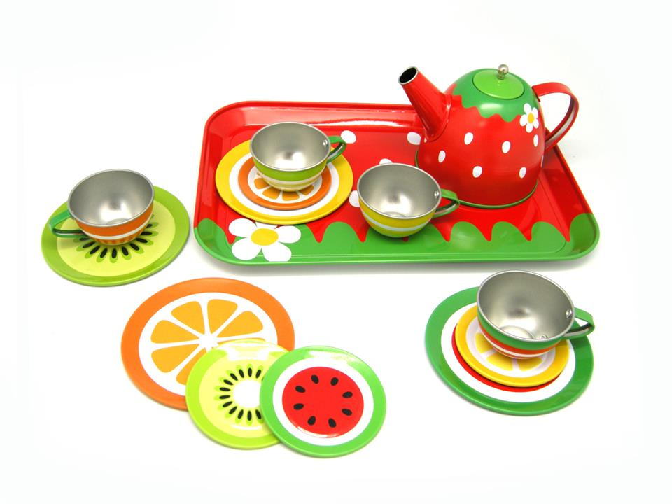 Image of Fruit Tin Tea Set