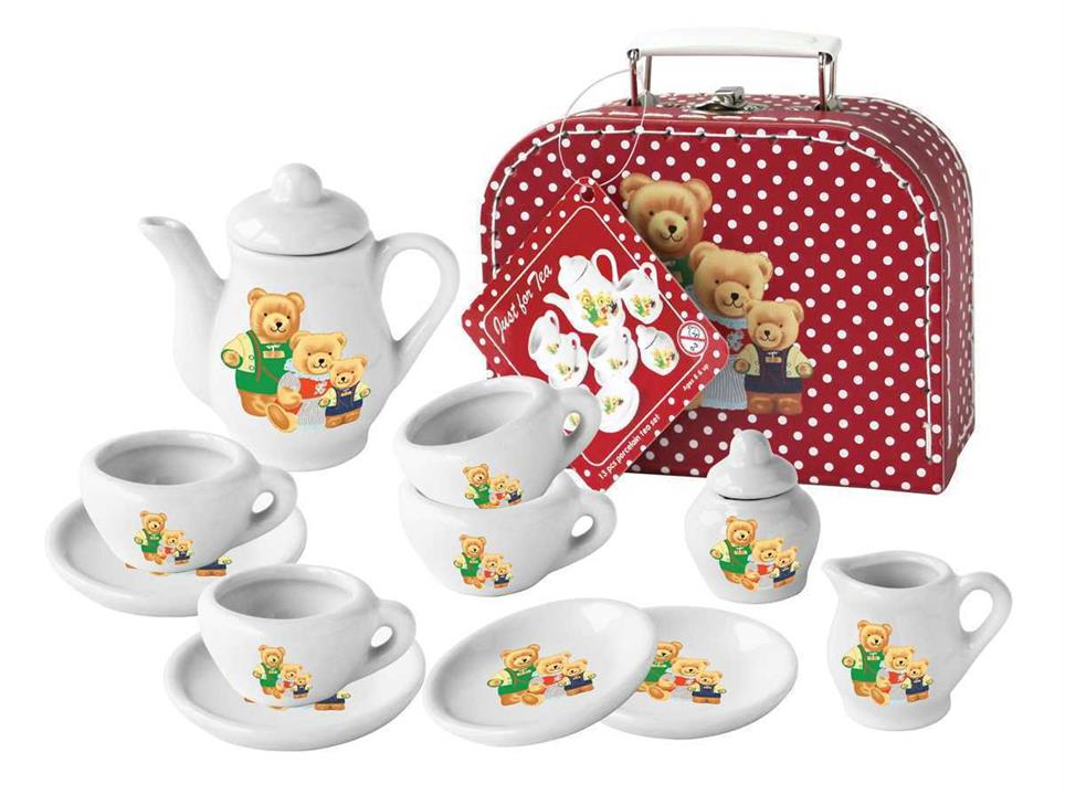 Image of 13Pcs Bear Porcelain Tea Set