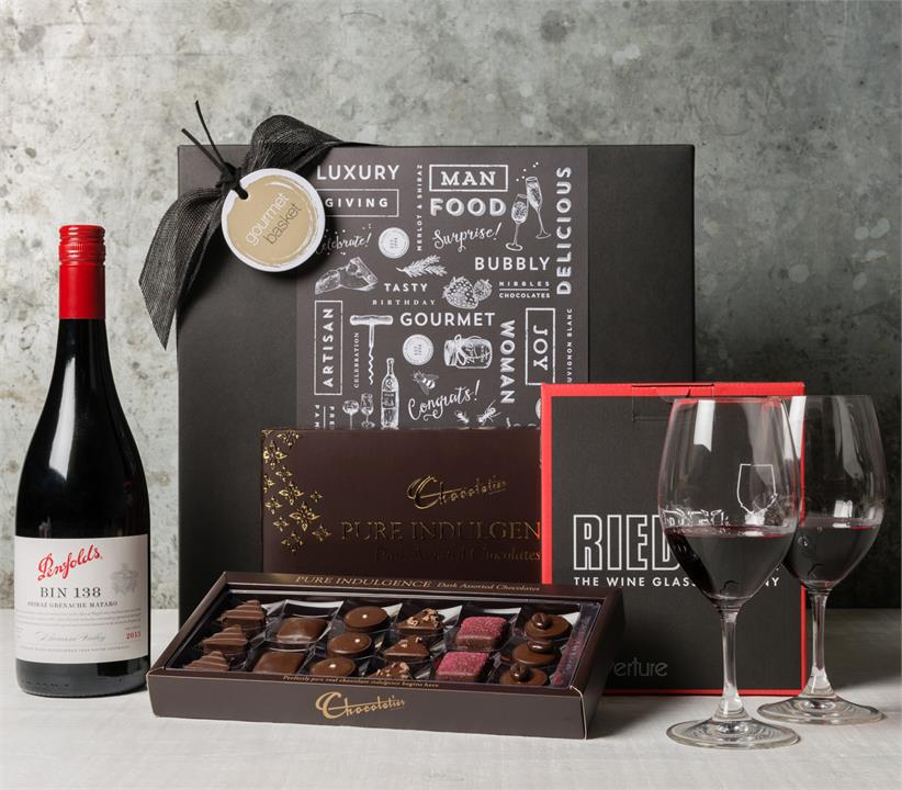 Image of Congratulations with Red Wine Hamper