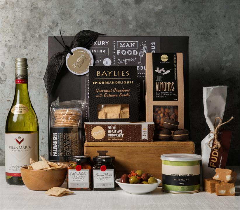 Image of White Wine and Nibbles Hamper