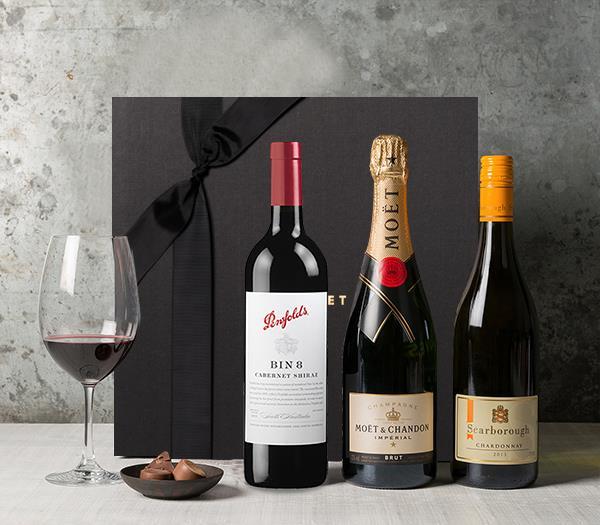 Image of Premium Wine Trio Hamper