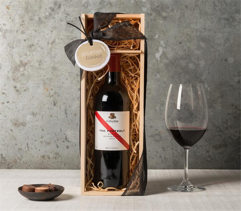 Image of Red Wine in Wooden Case
