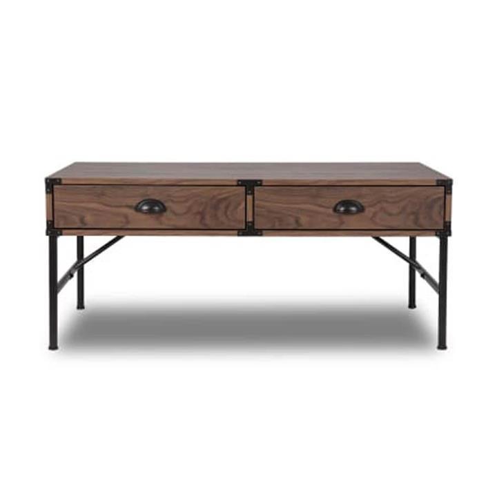 Orman Gleason 2 Drawers Coffee Table - Walnut