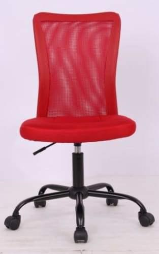 Amable Ergonomic Mesh Low Back Office Chair - Red